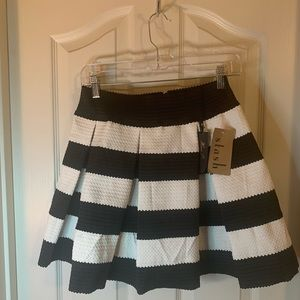 Black and white thick polyester skirt size medium